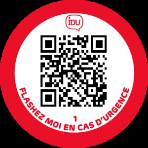IDUTag rouge IDU QR Code urgence
